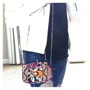 Vera Bradley Mini Chain Bag in Plum Crazy